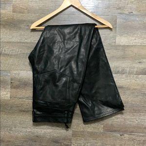 Gap leather pants